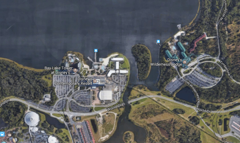 can you walk from wilderness lodge to contemporary
